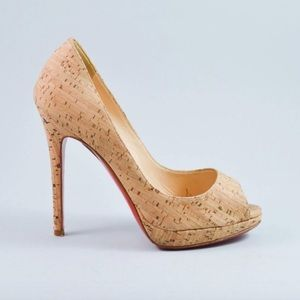 Christian Louboutin Cork Wedges Peeptoe Pumps 🌹